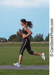 woman running - Woman running outdoor