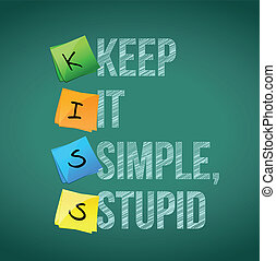 keep it simple stupid illustration design