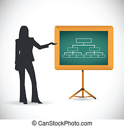 diagram presentation concept illustration design over a...