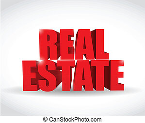 real estate text sign illustration design
