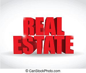 real estate text sign illustration design