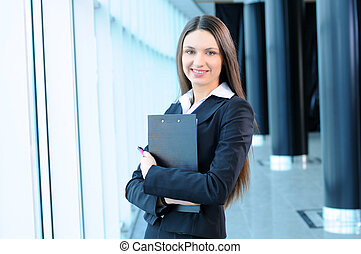 Business people - Beautiful businesswoman portrait on the...