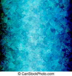 Abstract Blue black triangle background vertical - Abstract...