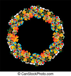 flower and peace vector art