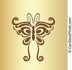 Butterfly vintage logo vector