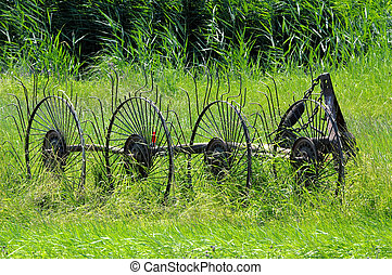 hay machine - an old hay machine
