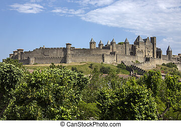 Carcassonne - France - The medieval fortress and walled city...