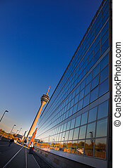 Dusseldorf - Modern building with backgorund of blue sky