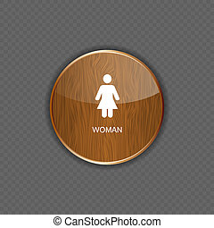 Woman wood application icons vector illustration