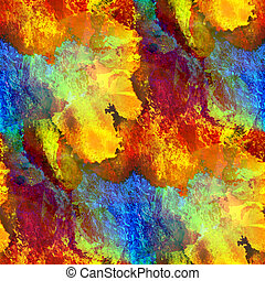 glare from watercolors seamless painting yellow blue red...