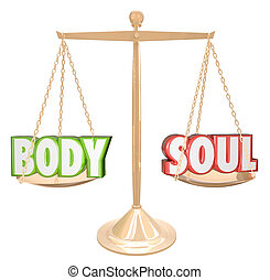 Body and Soul Words Scale Balance Weighing Total Health -...