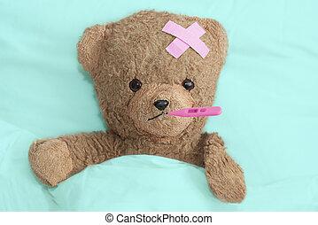 teddy, enfermo