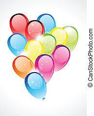 glossy balloon vector illustration