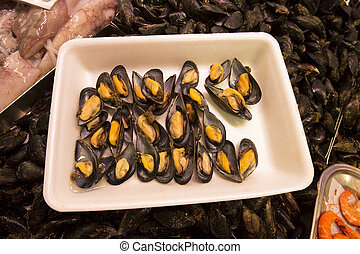 Mussels - Seafood - Spain - Mussels in the famous St Joseph...