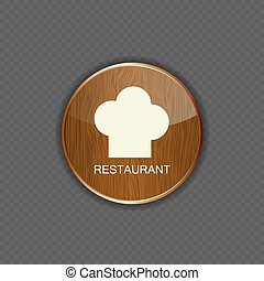 Food and drink wood application icons