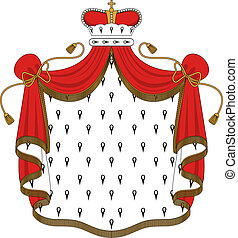 Royal mantle with crown for heraldry design