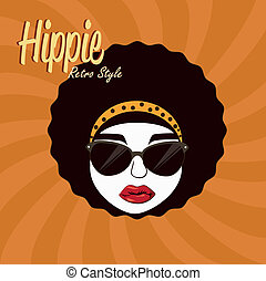 hippies design over grunge background vector illustration