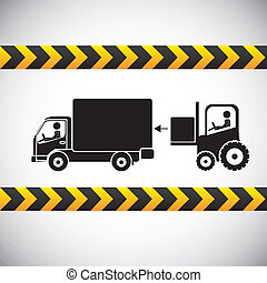 free delivery label over gray background vector illustration...