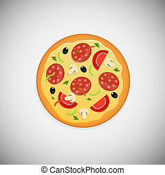 Pizza wood application icons vector illustration