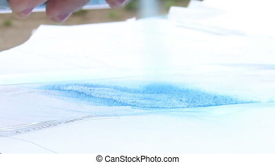 painting with spray can
