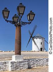 La Mancha - Spain. - Windmill in Campo de Criptana in the La...