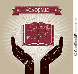 academic design over beige background vector illustration