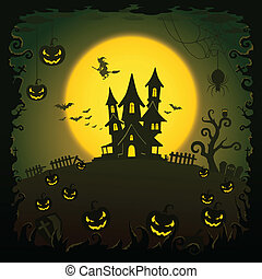 Scary house, Halloween background, EPS10, This illustration...