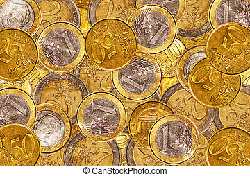 Euro coin background - Lots of euro coins for backgrounds