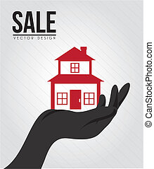 sale real estate - sale real state design over gray...