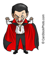 Dracula - Cartoon illustration of a Dracula