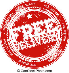 free delivery grunge stamp vector