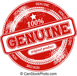 genuine grunge stamp vector - genuine grunge stamp isolated...