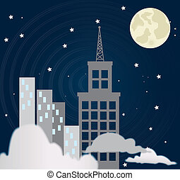 city at night design over black background vector...