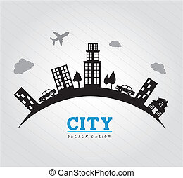 city design over gray background vector illustration