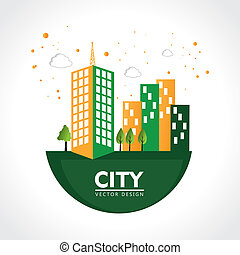 city design over white background vector illustration