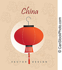 china icon over pink background vector illustration