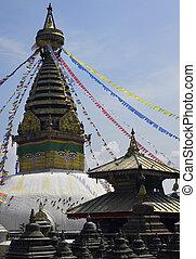 Swayambhunath Stupa - Kathmandu - Nepal - The all-seeing...