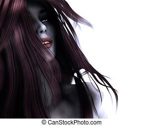 3d gothic woman - 3d digitally rendered illustration of a...