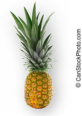 isolated pineapple - pinapple isolated on white and clipping...