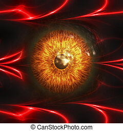 Eyeball of monster - Abstract scary 3d eyeball of a monster,...