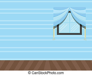 House Interior Window Wall Vector - Drawing Art of Room Wall...