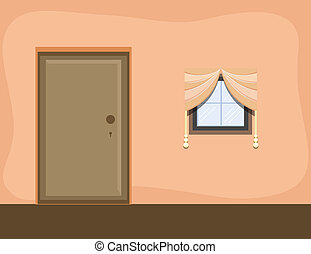 Room Interior - Cartoon Background - Drawing Art of Room...