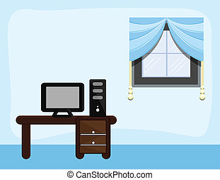 Study Room - Cartoon Background - Drawing Art of Study Room...