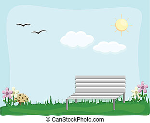 Garden - Cartoon Background Vector - Drawing Art of Garden -...