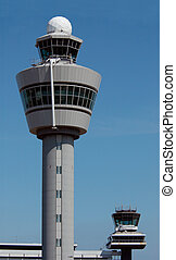Air traffic control tower at Amsterdam Airport