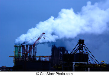 Industrial smoke - An industrial site in the netherlands