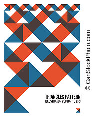 Abstract Colorful Triangle Pattern Background , Cover ,...