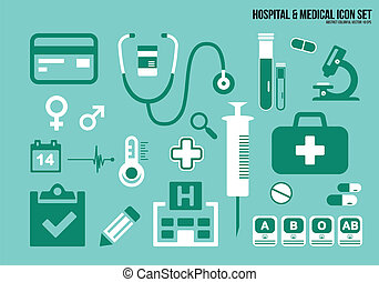 Icons set hospital & Medical
