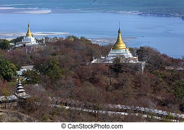 Irrawaddy River from Sagaing Hill - Myanmar - View across...