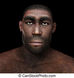 Homo Erectus - Digital Illustration of a Homo Erectus